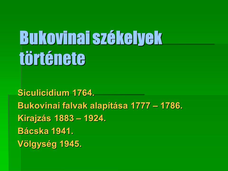 Bukovinai székelyek története