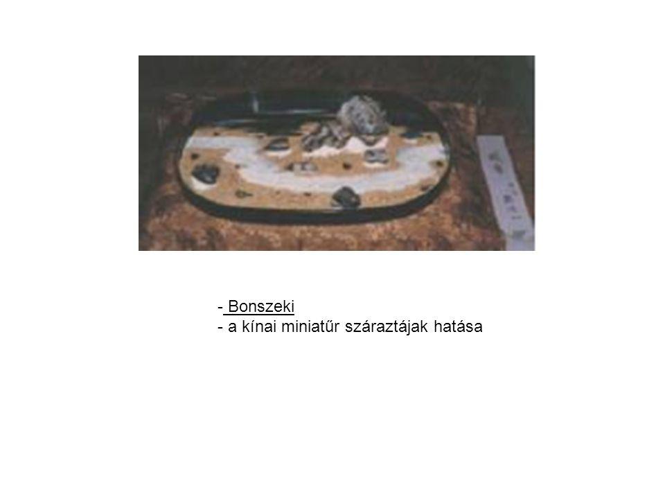 Bonszeki a kínai miniatűr száraztájak hatása