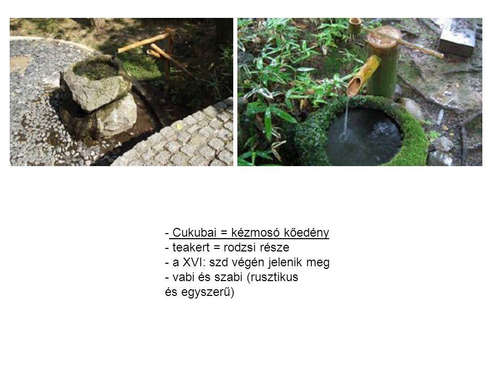 Cukubai = kézmosó kőedény
