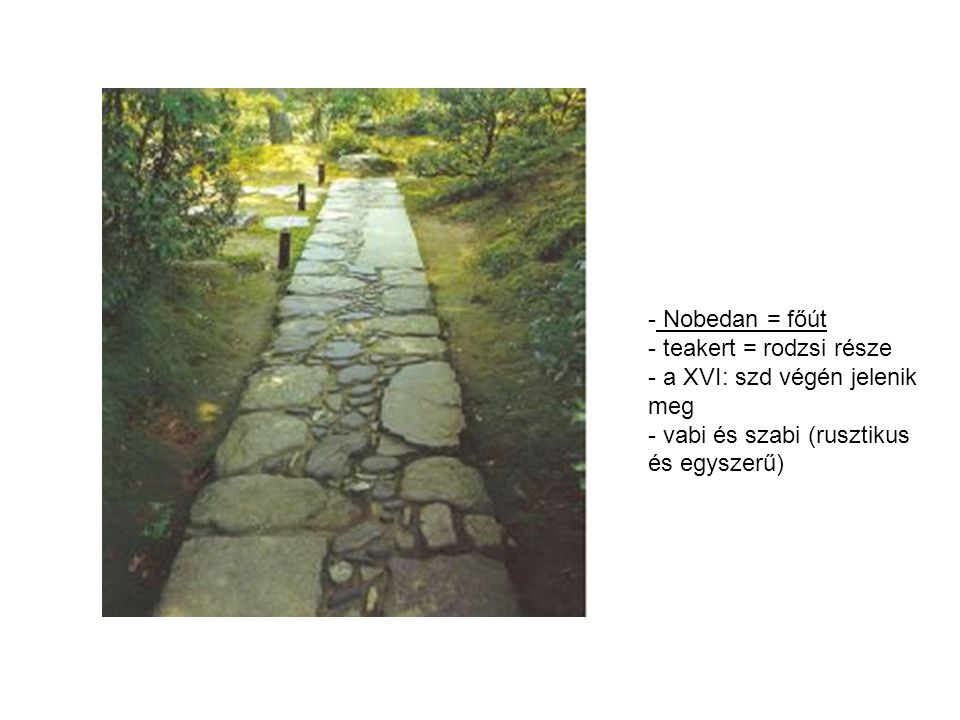 Nobedan = főút teakert = rodzsi része. a XVI: szd végén jelenik meg.