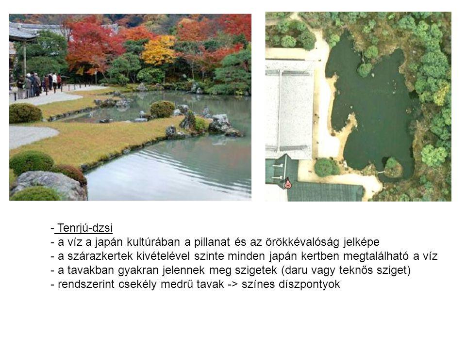 Tenrjú-dzsi a víz a japán kultúrában a pillanat és az örökkévalóság jelképe.