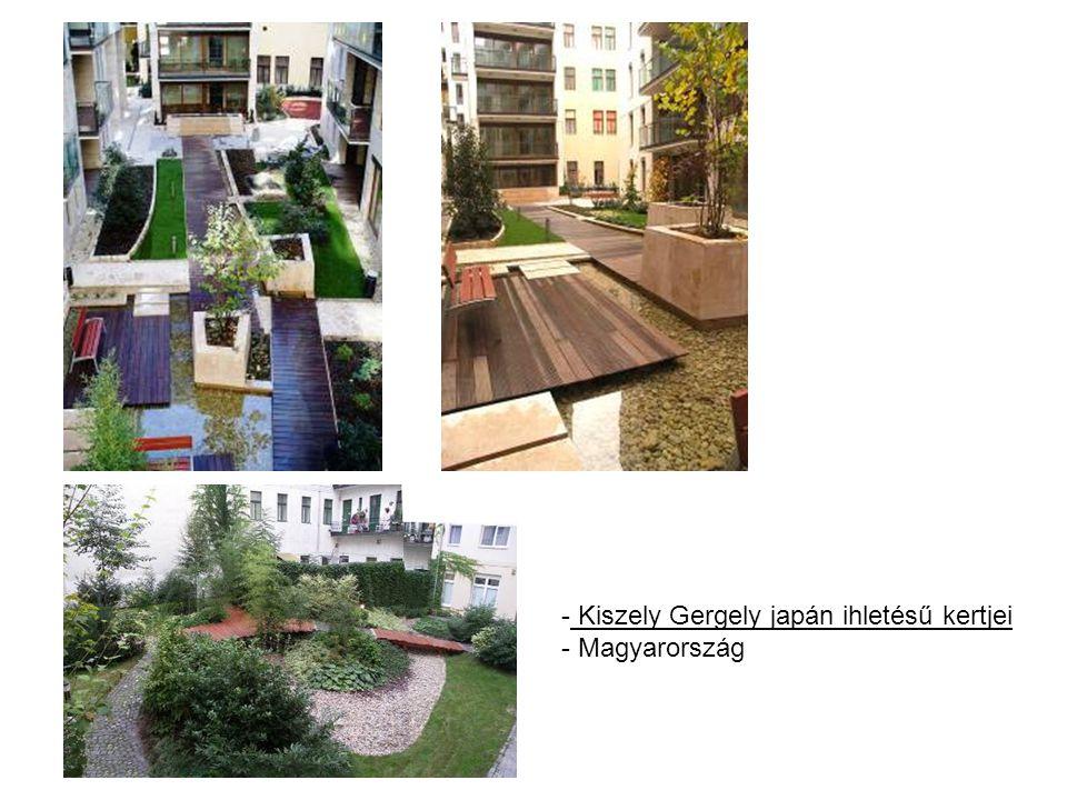 Kiszely Gergely japán ihletésű kertjei