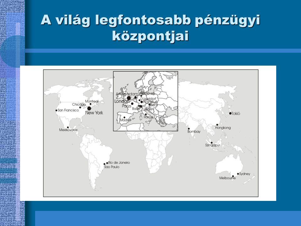 A világ legfontosabb pénzügyi központjai