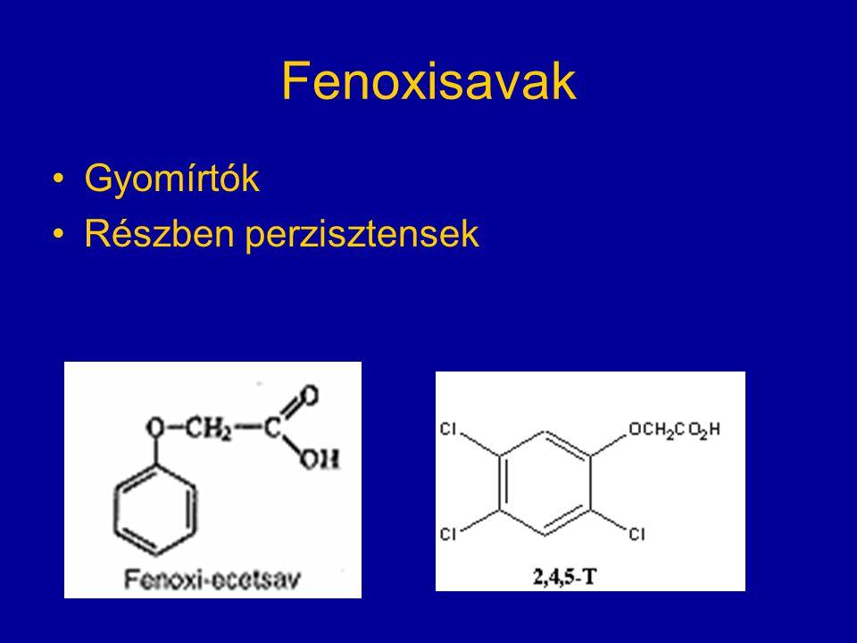 Fenoxisavak Gyomírtók Részben perzisztensek