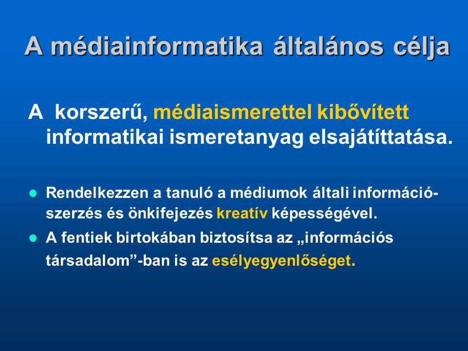 A médiainformatika általános célja