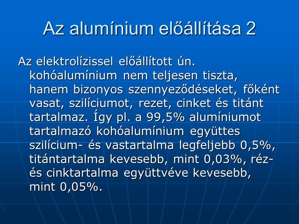 Az alumínium előállítása 2