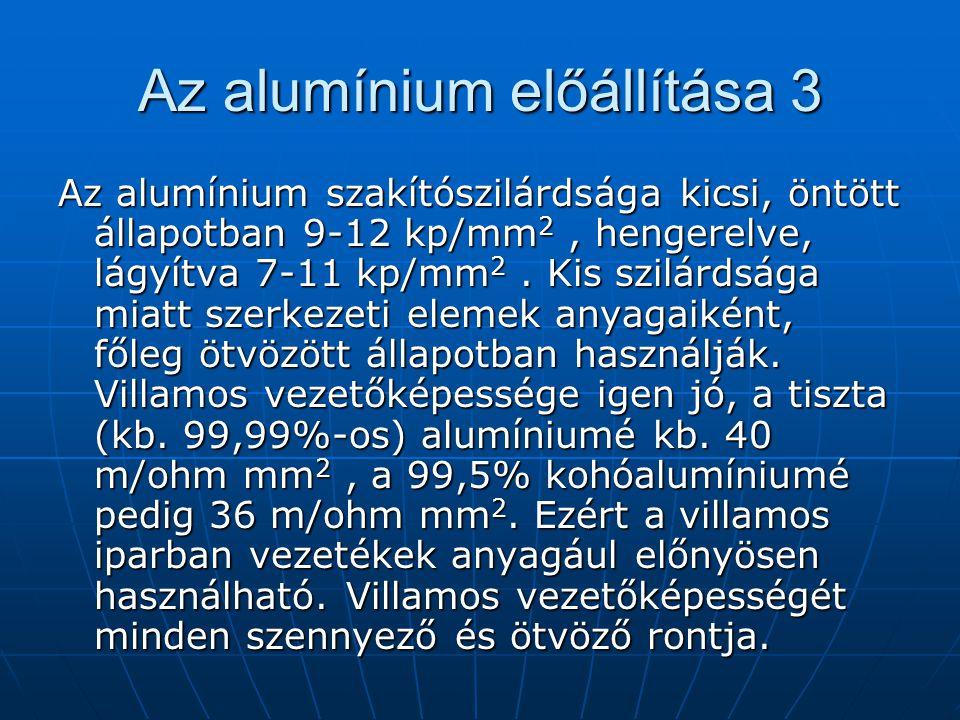 Az alumínium előállítása 3