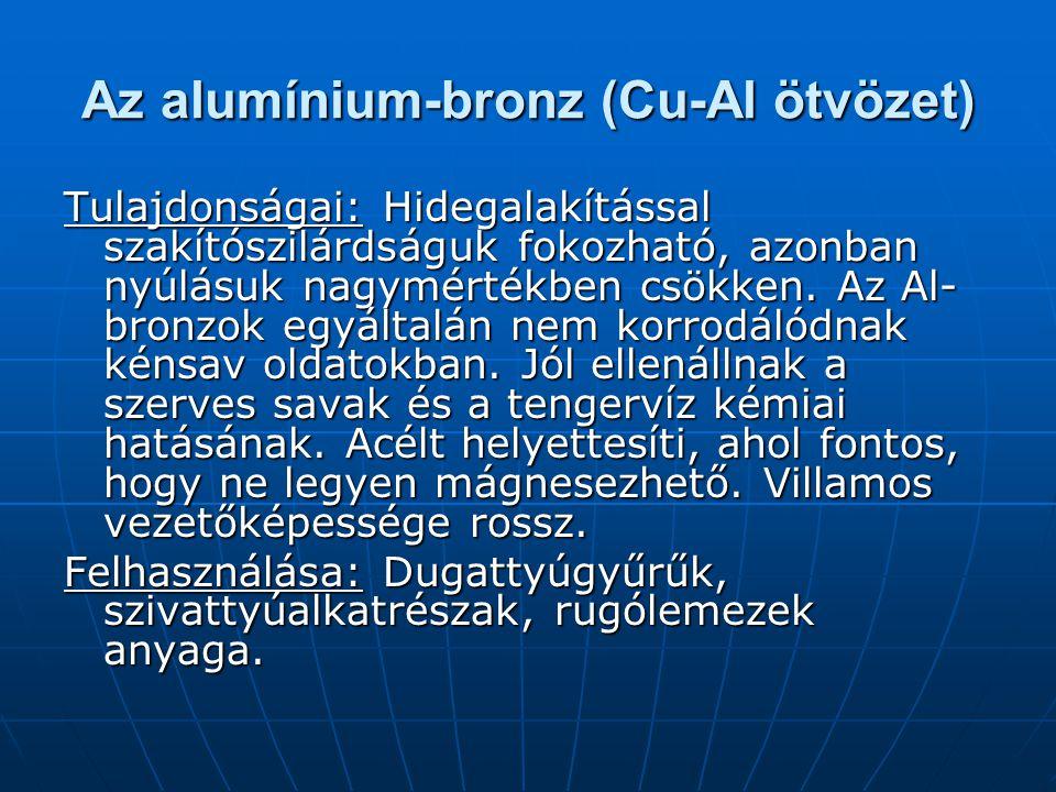 Az alumínium-bronz (Cu-Al ötvözet)