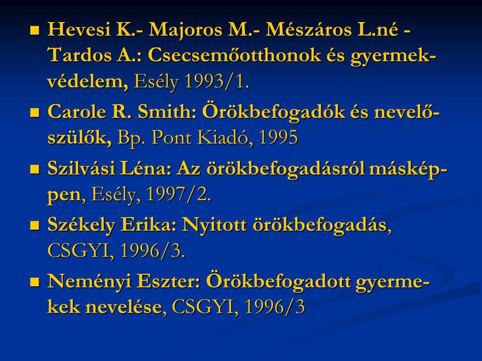 Hevesi K. - Majoros M. - Mészáros L. né - Tardos A