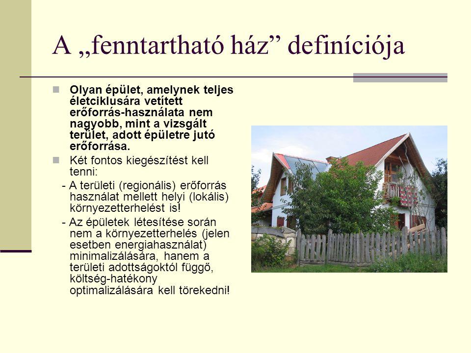 """A """"fenntartható ház definíciója"""