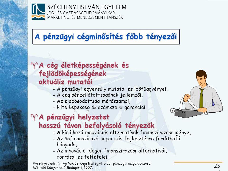 A pénzügyi teljesítmény modellezése