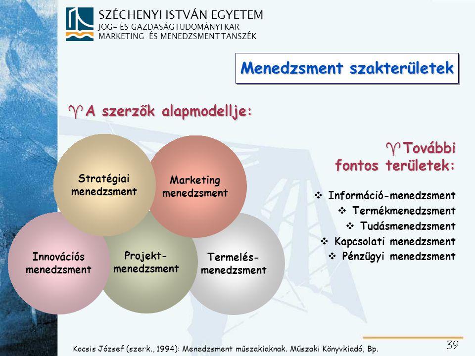 Menedzseri szerepek Információs szerepek Döntési szerepek
