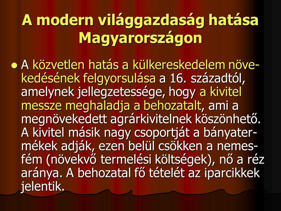 A modern világgazdaság hatása Magyarországon