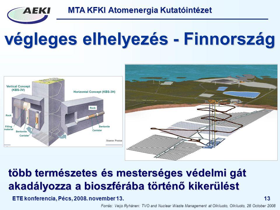 végleges elhelyezés - Finnország