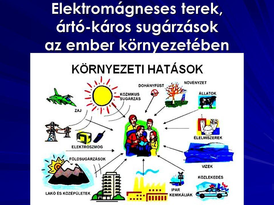 Elektromágneses terek, ártó-káros sugárzások az ember környezetében