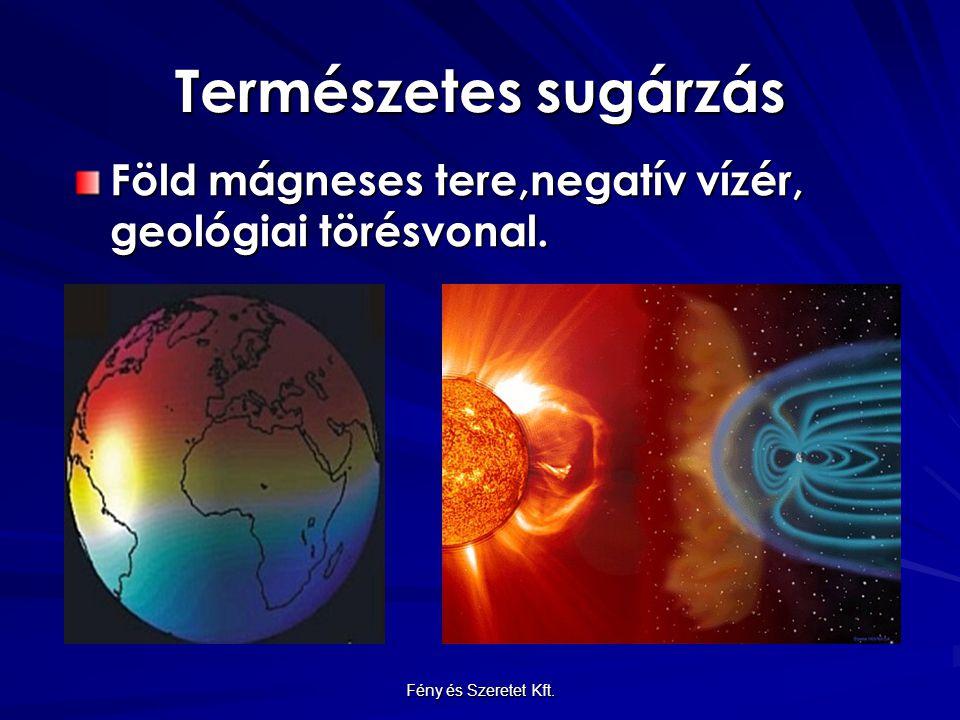 Természetes sugárzás Föld mágneses tere,negatív vízér, geológiai törésvonal. Fény és Szeretet Kft.