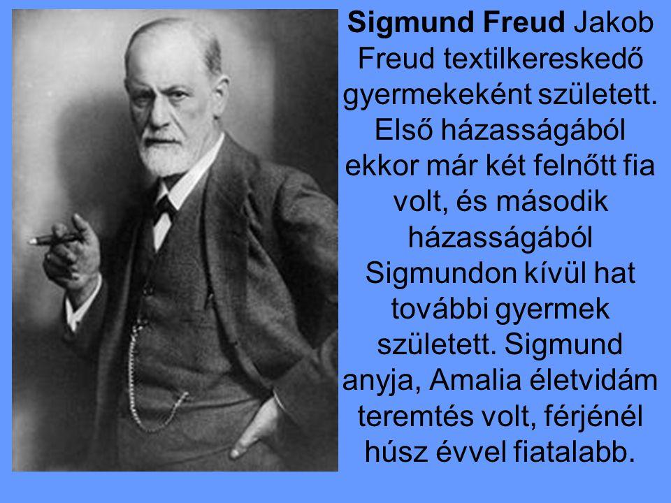 Sigmund Freud Jakob Freud textilkereskedő gyermekeként született