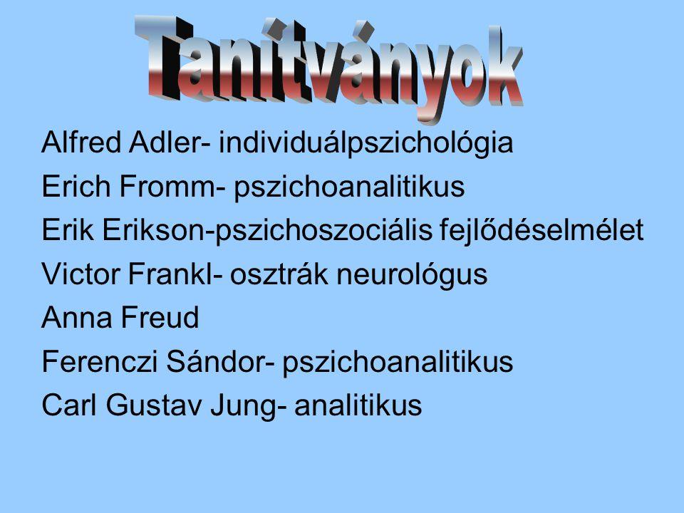 Tanítványok Alfred Adler- individuálpszichológia