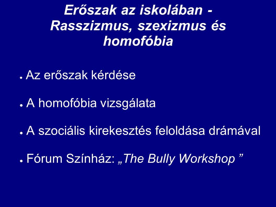 Erőszak az iskolában - Rasszizmus, szexizmus és homofóbia