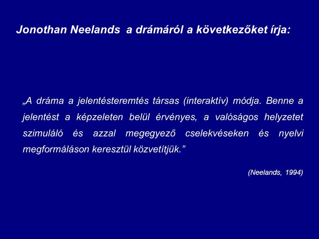 Jonothan Neelands a drámáról a következőket írja: