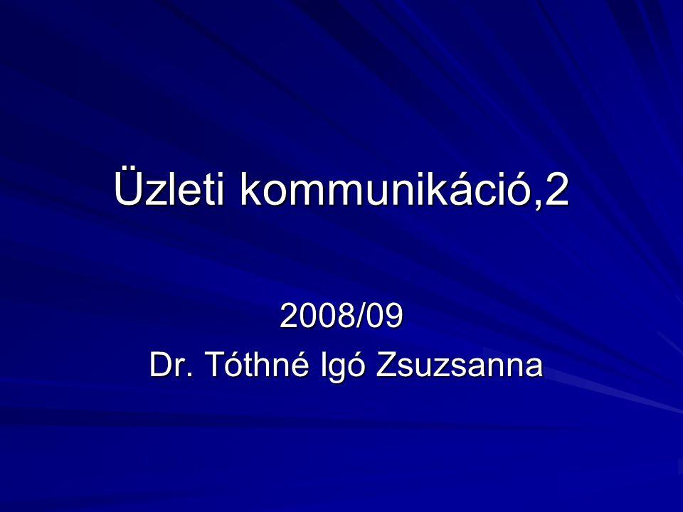 2008/09 Dr. Tóthné Igó Zsuzsanna