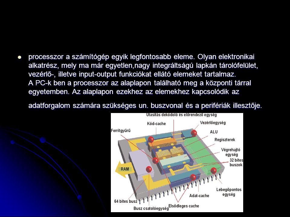 processzor a számítógép egyik legfontosabb eleme