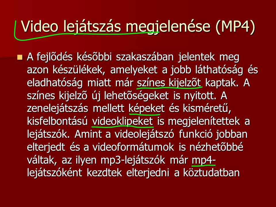 Video lejátszás megjelenése (MP4)