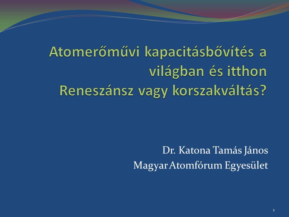 Dr. Katona Tamás János Magyar Atomfórum Egyesület
