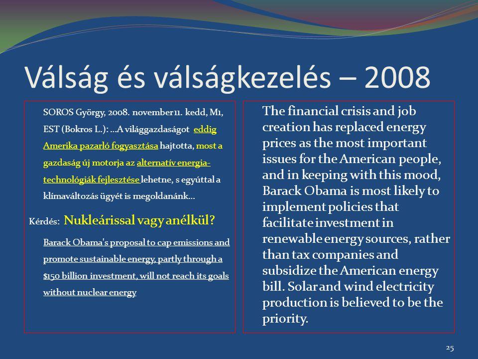 Válság és válságkezelés – 2008