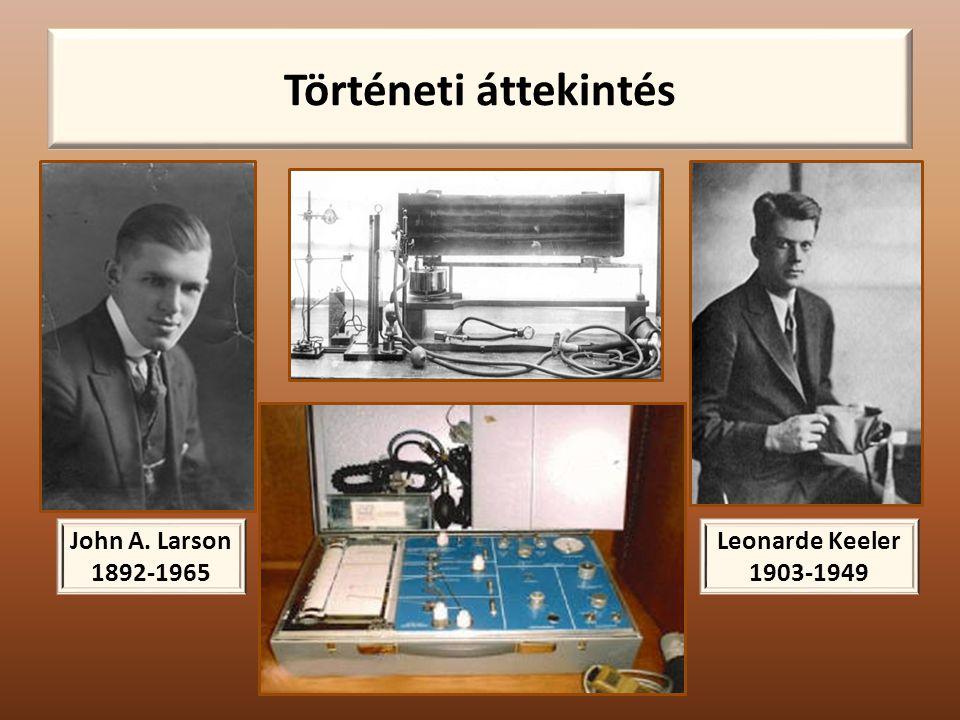 Történeti áttekintés John A. Larson 1892-1965 Leonarde Keeler