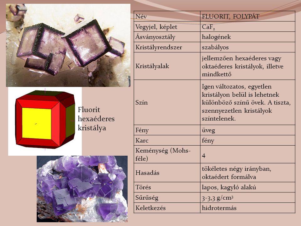 Fluorit hexaéderes kristálya