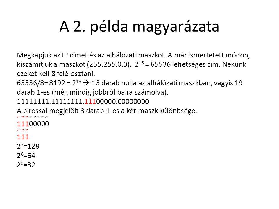 A 2. példa magyarázata