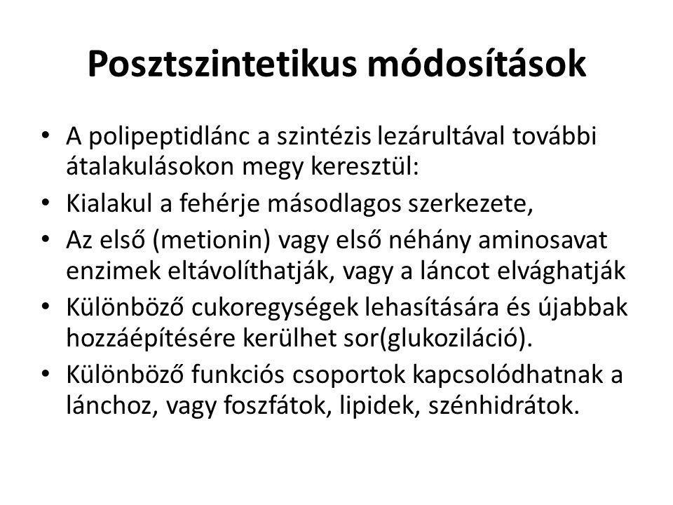 Posztszintetikus módosítások