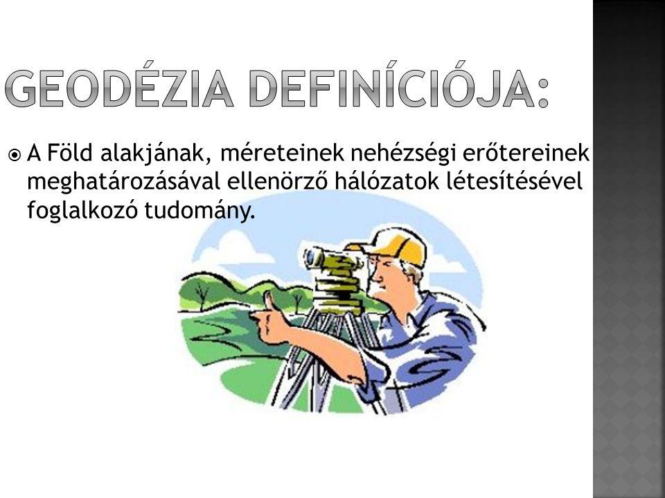 Geodézia definíciója: