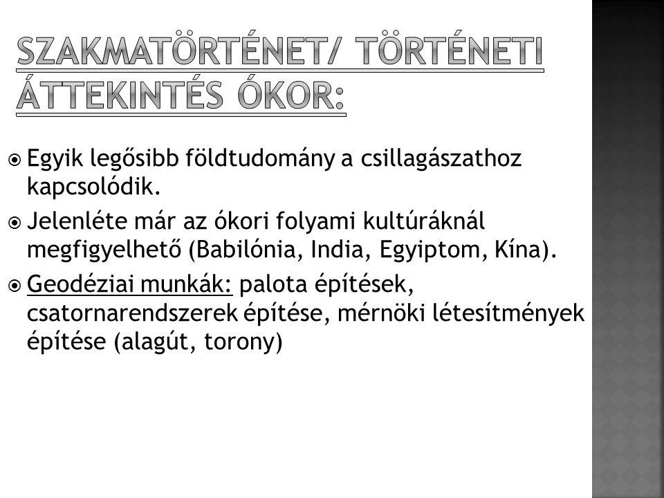 Szakmatörténet/ Történeti áttekintés Ókor: