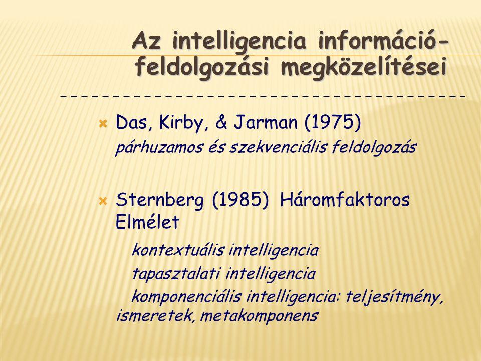 Az intelligencia információ-feldolgozási megközelítései