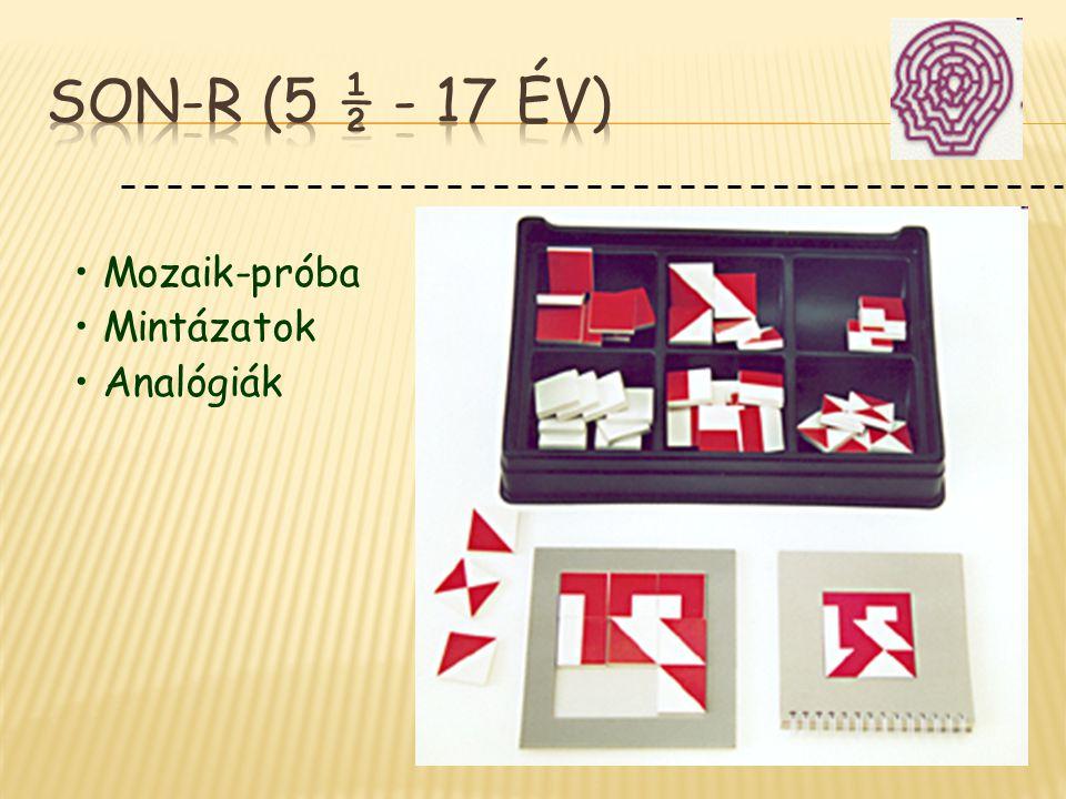 SON-R (5 ½ - 17 év) Mozaik-próba Mintázatok Analógiák