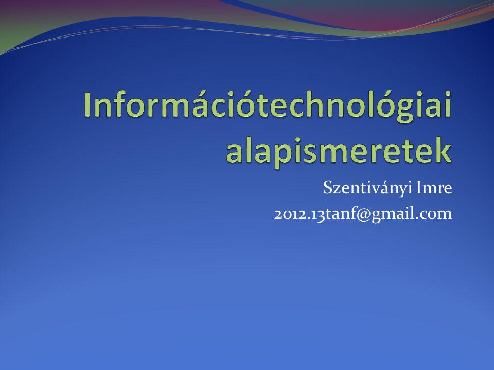 Információtechnológiai alapismeretek