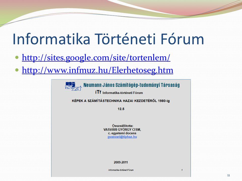 Informatika Történeti Fórum
