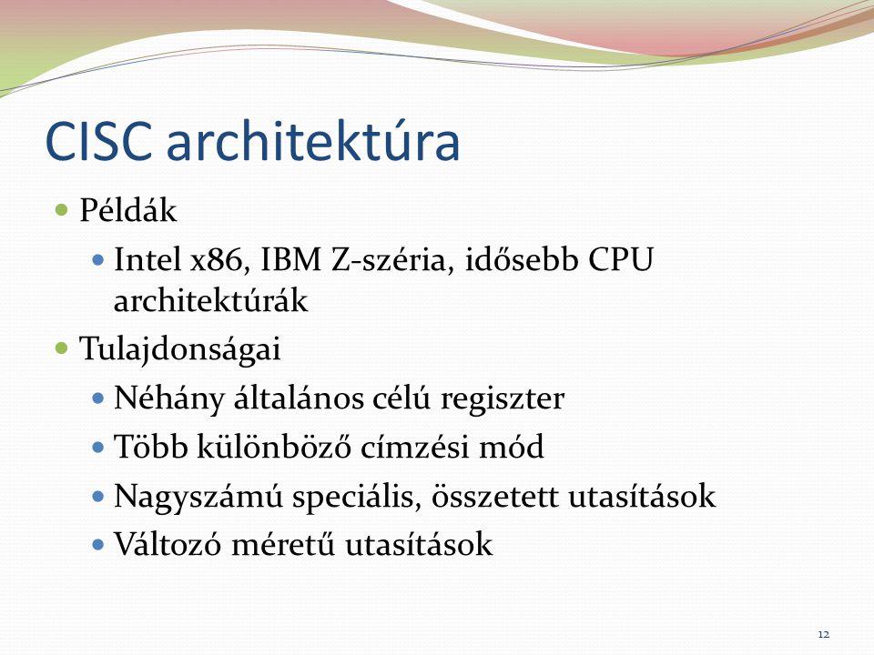 CISC architektúra Példák