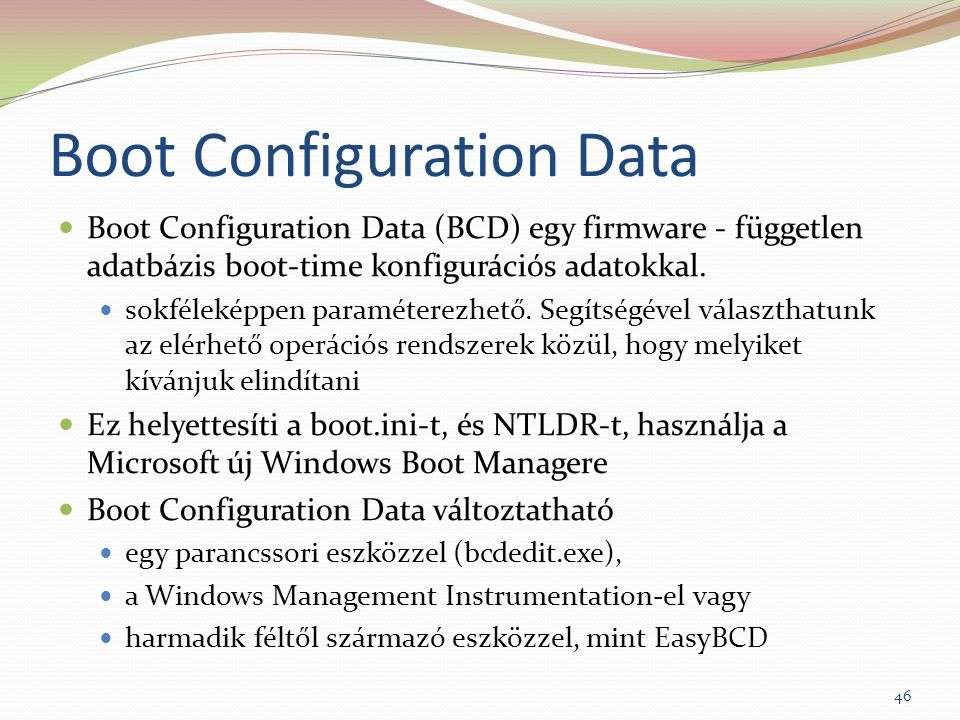 Boot Configuration Data