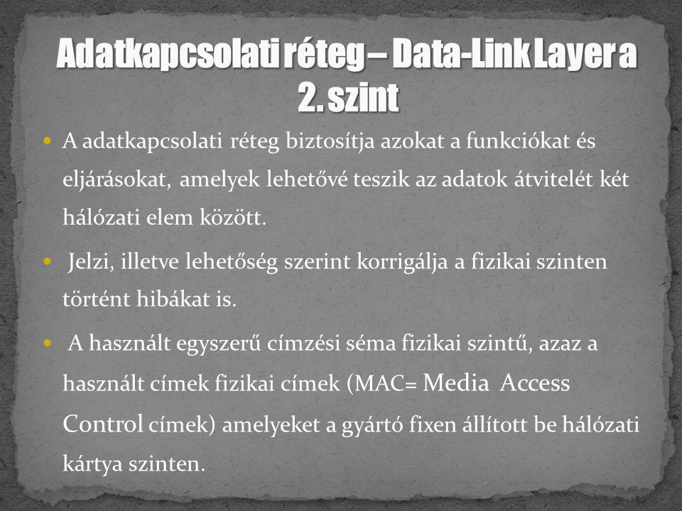 Adatkapcsolati réteg – Data-Link Layer a 2. szint