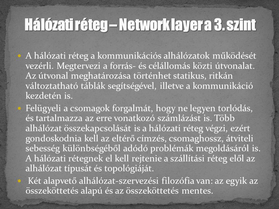 Hálózati réteg – Network layer a 3. szint