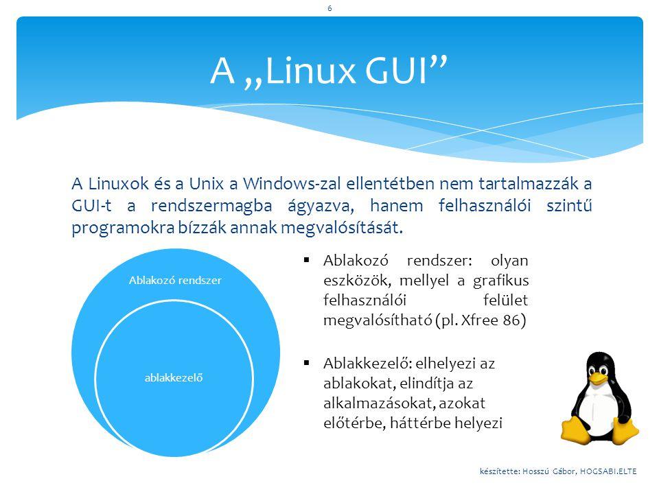 """A """"Linux GUI"""