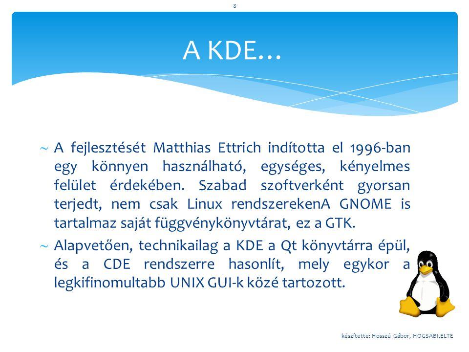 A KDE…