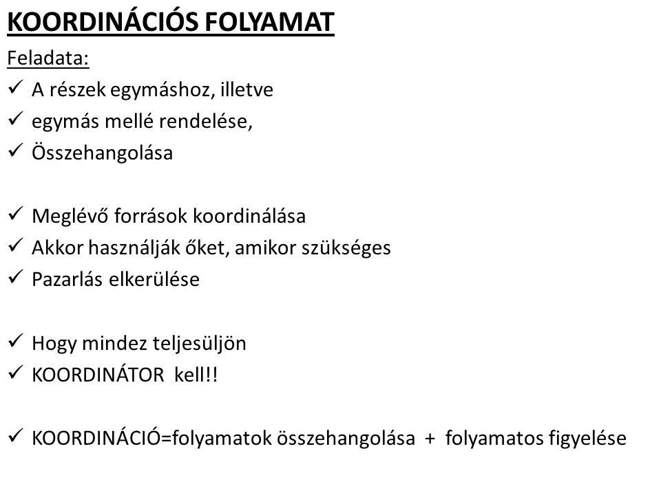 KOORDINÁCIÓS FOLYAMAT