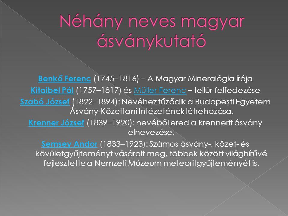 Néhány neves magyar ásványkutató