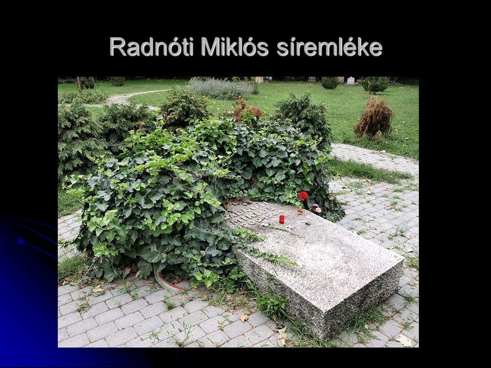 Radnóti Miklós síremléke