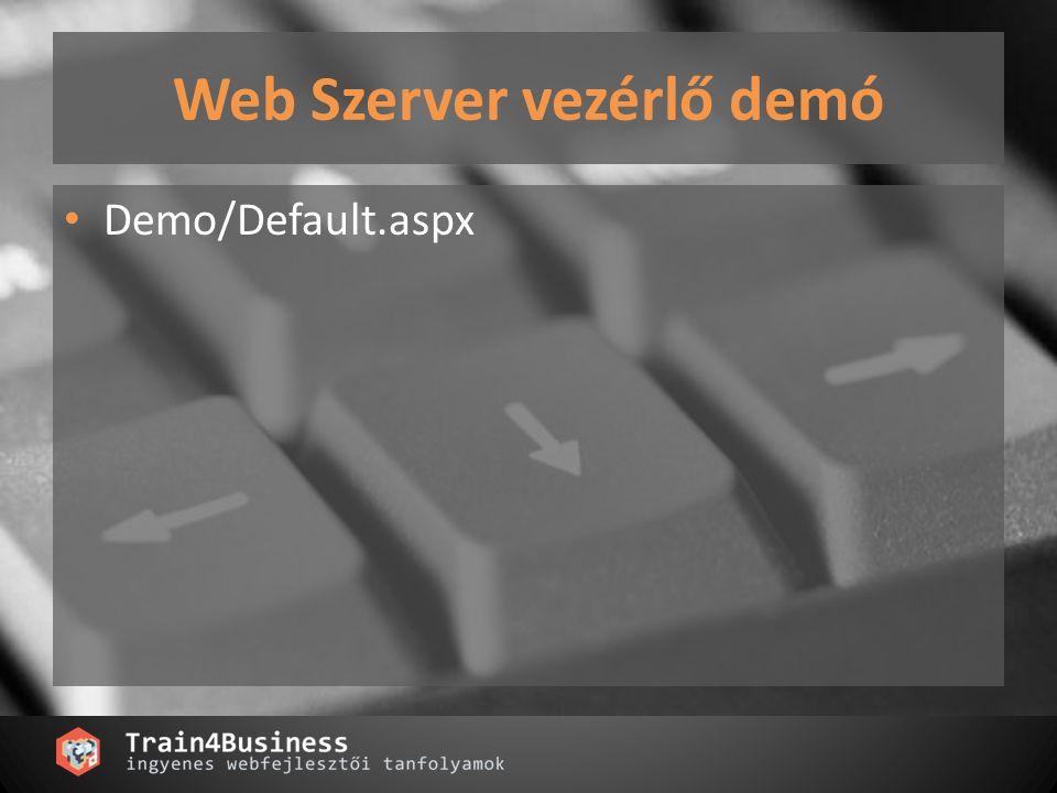 Web Szerver vezérlő demó