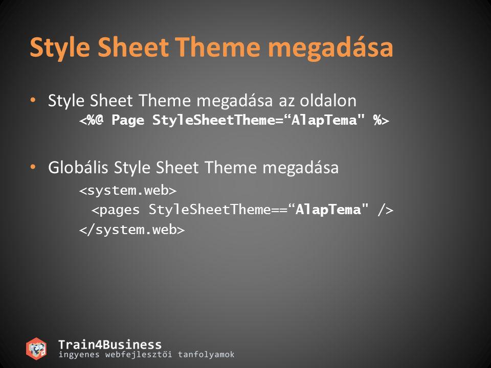 Style Sheet Theme megadása